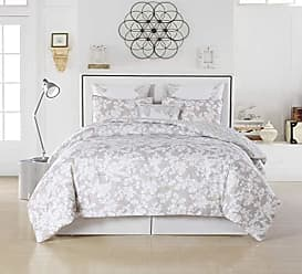 Duck River Textile Kensie Ainna Hotel Quality Luxury Comforter Duvet Insert Cover 100% Ultra Soft Hypoallergenic | 6 Piece Set | Floral Collection, | Queen Size |, Taupe
