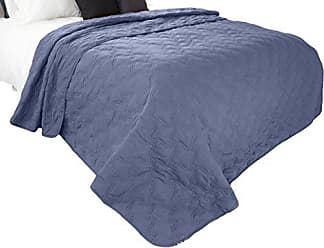 Trademark Global Solid Color Quilt by Bedford Home Full/Queen - Navy