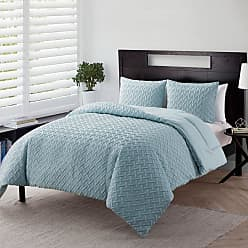 VCNY Nina Geometric Embossed Comforter Set by VCNY Home Taupe, Size: Full/Queen - N11-3CS-FUQU-IN-TA