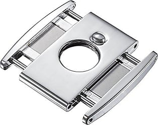 Visol Products High Polished Ryuu Double Guillotine Cigar Cutter, Chrome