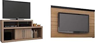 Tecno Mobili Sala de Estar Completa MadeiraMadeira com Rack e Painel 381885 Marrom