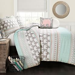 Lush Décor 4-Piece Comforter Sets - Turquoise/Pink - Size:Twin