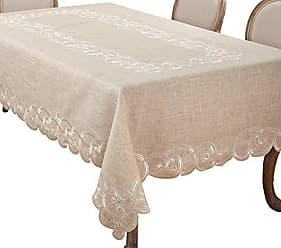 Blue 54-Inch SARO LIFESTYLE 0521 Jacquard Square Tablecloth