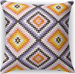 Kavka Designs Dakha Beige Accent Pillow Purple / Pink / Orange - IDP-DI16-16X16-MGT2145