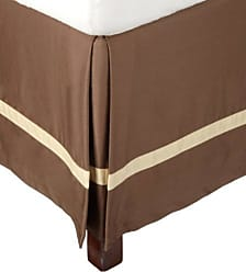 Superior 300 Thread Count 100% Cotton, Hotel Collection, 15 Inch Drop, Full Bed Skirt, Mocha with Honey