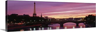 Great Big Canvas Eiffel Tower Paris France Horizontal Canvas Wall Art Print - 32559_24_36X12_NONE