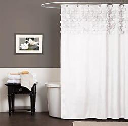 Lush Décor Lillian Shower Curtain, White