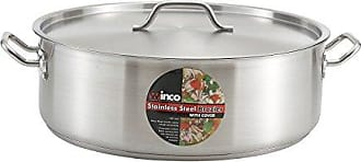 Winco USA Winware Stainless Steel 25 Quart Brasier with Cover