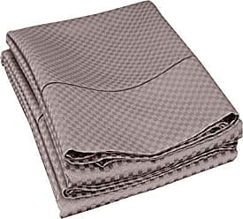 Superior Cotton Blend 800 Thread Count Jacquard Weave Micro-checkers Wrinkle Resistant King Pillowcase Pair, Grey