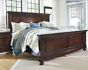 Ashley Furniture Porter California King Panel Bed, Rustic Brown