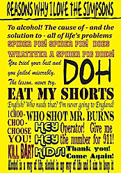 Buyartforless Reasons Why I Love The Simpsons by Kelissa Semple 18x12 Art Print Poster TV Show Great Quotes Cartoon 25th Anniversary Homer Marge Lisa Bart Maggie DOH