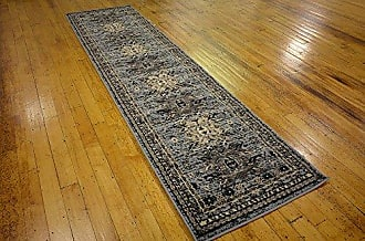 Unique Loom Taftan Collection Geometric Tribal Gray Runner Rug (3 x 10)