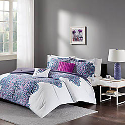 INTELLIGENT DESIGN Mila Comforter Set Full/Queen Size - Purple, Medallion - 5 Piece Bed Sets - All Season Ultra Soft Microfiber Teen Bedding - Perfect For Dormitory-Great For Guest and Girls Bedroom