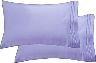 Elegant Comfort Luxury Ultra-Soft 2-Piece Pillowcase Set 1500 Thread Count Egyptian Quality Microfiber Double Brushed-100% Hypoallergenic-Wrinkle Resistant, King/California King, Lilac