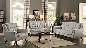 Coaster 511031 Mid Century Modern Sofa, Dove Grey