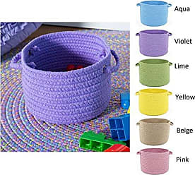 Rhody Rug Fun Braids Solid Sand Beige 18 x 12 Basket