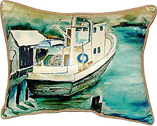 Betsy Drake SN932 Oyster Boat Small Indoor/Outdoor Pillow, 11 x14