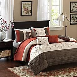 Madison Park MP10-1368 Serene 7 Piece Comforter Set, Orange