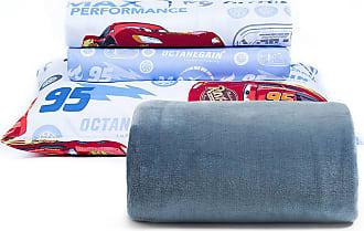 Disney Kit Manta Microfibra Aveludada 290 g/m² + Jogo de Lençol Infantil Microfibra 150 Fios Toque Aveludado Disney Cars Storm