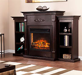 Gracewood Hollow Carlo Classic Espresso Bookcase Infrared Electric Fireplace (OS5458IF)