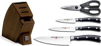 Wüsthof WÜSTHOF CLASSIC IKON Five Piece Studio Block Knife Set | 5-Piece German Knife Set | Precision Forged High Carbon Stainless Steel Kitchen Studio Knife Set with 15 Slot Wood Block - Model 9595