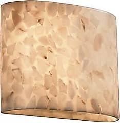 Justice Design Group Alabaster Rocks! Oval Wall Sconce