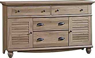 Sauder Sauder 414942 Harbor View Dresser, L: 58.27 x W: 17.64 x H: 33.74, Salt Oak finish
