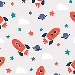 Lar Adesivos Papel de Parede Infantil Adesivo Espaço Astronauta Céu N4149