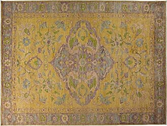 Solo Rugs Hand Knotted Area Rug, 103 x 138, Yellow
