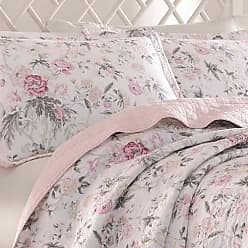 Laura Ashley Breezy Floral Quilt Set - Pink - Size:Full/Queen