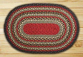 Earth Rugs 04-338 Oval Rug, 3 x 5, Burgundy/Olive/Charcoal