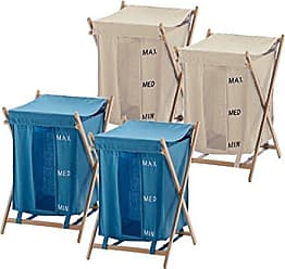Nameek's Gedy BU3800-03-11 4 Beige and Blue Laundry Baskets