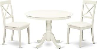 East West Furniture HLBO3-LWH-LC Hartland Set, Linen White