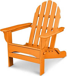 Ashley Furniture POLYWOOD Emerson All Weather Adirondack Chair, Tangerine