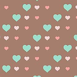 Lar Adesivos Papel de Parede Infantil Coração Menina Corações N4073