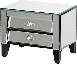 Essential Decor & Beyond Inc EN18333 Mirror Jewelry Box Cabinet