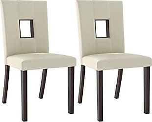CorLiving DIP-411-C Bistro Dining Chairs, Cappuccino, White