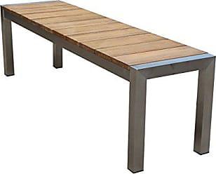 Greemotion 129159 Gartenbank SAN DIEGO Aus Teak Holz 2 Sitzer Holzbank Ohne  Lehne Garten
