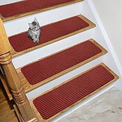 Ottomanson SRT700-14 Scrape Rib Stair Tread, 14 Pack, Red