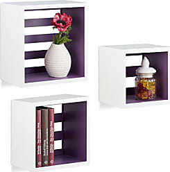 Relaxdays Hängeregale Cube, Wandregal 3er Set, Quadratische Würfel Regale  Für Wand, Schwebende Regale
