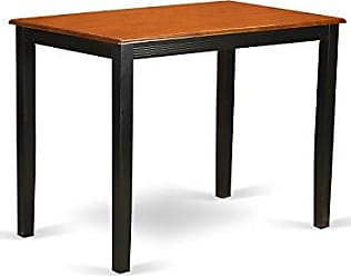 East West Furniture YAT-BLK-H Yarmouth Counter Height Table, Black Finish