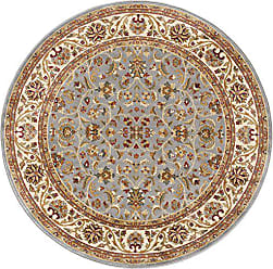 Tayse Ventura Transitional Oriental Blue Round Area Rug, 5 Round