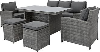 Best Choice Products 6-Piece Modular Patio Wicker Dining Sofa Set, Outdoor Furniture w/ 7 Seats, Cushions - Gray