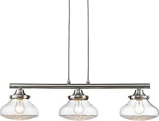 Golden Lighting 3417-LP Asha 3 Light 32 Wide Linear Chandelier with a