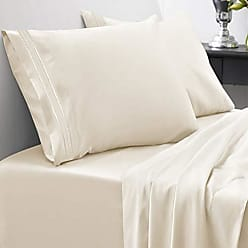 Sweet Home Collection 1800 Thread Count Bed Set Egyptian Quality Brushed Microfiber 5 Piece Deep Pocket Sheets, Split King, Ivory