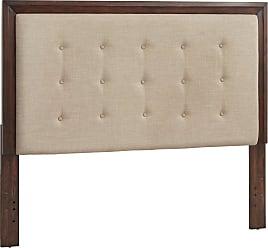 Weston Home Lefaye Wood and Tufted Linen Headboard, Size: Queen - 68E449BQ-1DGL