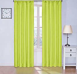 Ellery Homestyles Eclipse 42 x 84 Insulated Darkening Single Panel Rod Pocket Window Treatment Living Room, Lime