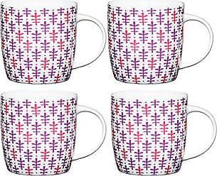 White//Grey 90 ml Smalto collezione Living Nostalgia di KitchenCraft Tazzina da caff/è smaltata 90/ml