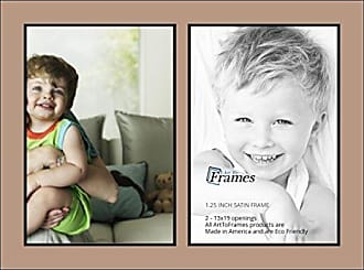 Art to Frames Collage Photo Frame Double Mat with 2 - 13x19 Openings and Satin Black Frame