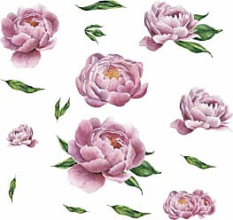 RoomMates Large Peony Giant Peel And Stick Wall Decals - RMK3893GM